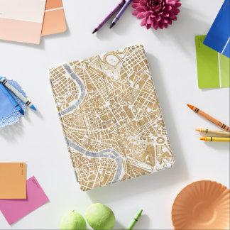 Capa Smart Para iPad Mapa dourado da cidade de Roma