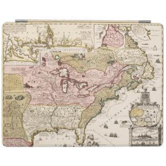 Capa Smart Para iPad Mapa francês medieval América de Quebeque/France