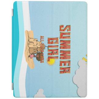 Capa Smart Para iPad Menina do verão do T