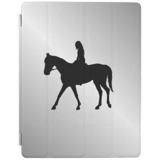 Capa Smart Para iPad Menina na prata do cavalo