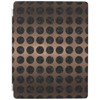 CAPA SMART PARA iPad METAL PRETO DO MÁRMORE CIRCLES1 & DO BRONZE (R)