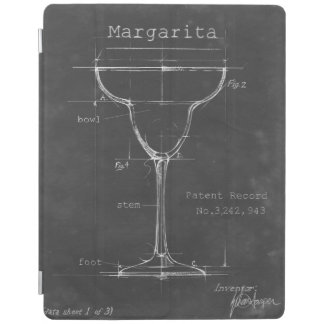 Capa Smart Para iPad Modelo preto & branco do vidro de Margarita