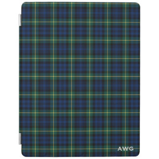 Capa Smart Para iPad Monograma do Tartan do clã de Gordon dos azuis