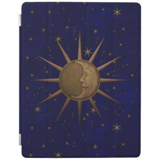 Capa Smart Para iPad Noite estrelado da lua celestial de Sun