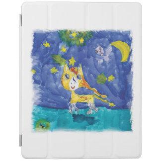Capa Smart Para iPad Noite estrelado Pegasus da aguarela com bastão