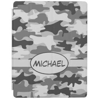 Capa Smart Para iPad Nome cinzento da camuflagem de Camo personalizado