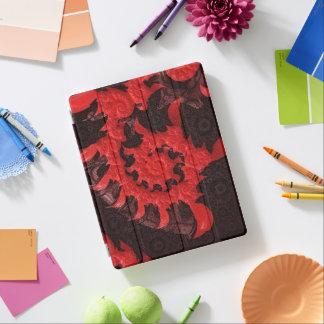 Capa Smart Para iPad O beijo espiral preto e vermelho de um escorpião