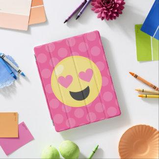 Capa Smart Para iPad O coração Eyes bolinhas de Emoji