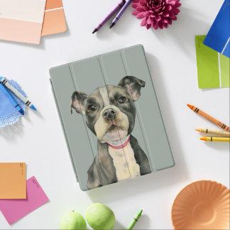 "Capa Smart Para iPad O ""filhote de cachorro Eyes"" a pintura da aguarela"