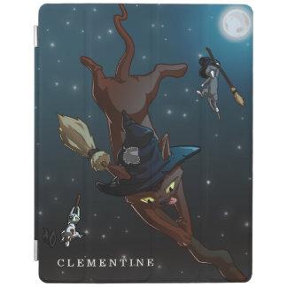 Capa Smart Para iPad O gato da bruxa coloca a ilustração dos desenhos