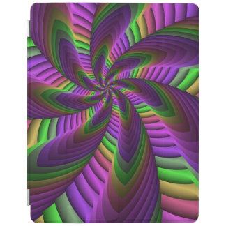 Capa Smart Para iPad O néon colore o teste padrão colorido louco