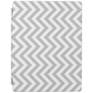 Capa Smart Para iPad O ziguezague cinzento e branco listra o teste