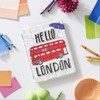 Capa Smart Para iPad Olá! sinal indicado por letras da mão de Londres |