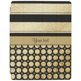 Capa Smart Para iPad Ouro & listras e pontos pretos do brilho