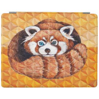 Capa Smart Para iPad Panda vermelha no Cubism alaranjado Geomeric