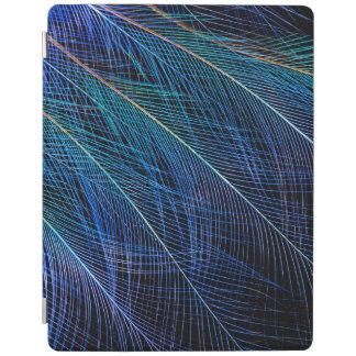 Capa Smart Para iPad Pássaro azul do abstrato da pena do paraíso