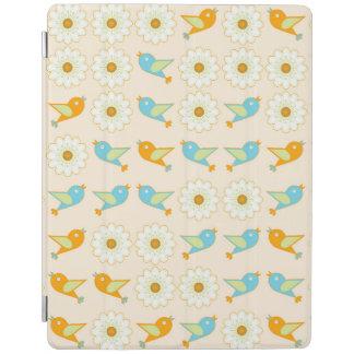 Capa Smart Para iPad Pássaros e margaridas