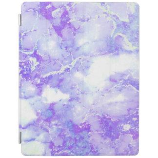 Capa Smart Para iPad Pedra de mármore nebulosa da lavanda roxa