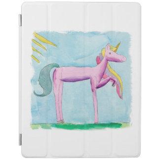 Capa Smart Para iPad Pintura criançola da aguarela com cavalo do