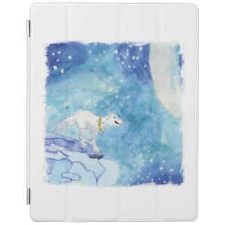Capa Smart Para iPad Pintura criançola da aguarela com lobo nevado