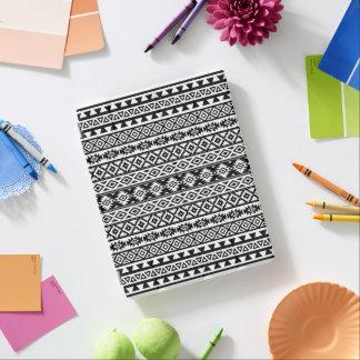 Capa Smart Para iPad Preto & branco estilizados astecas do teste padrão