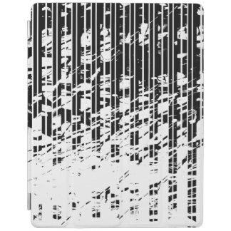 Capa Smart Para iPad Riscas preto e branco afligidas