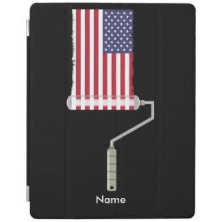Capa Smart Para iPad Rolo de pintura da bandeira dos EUA