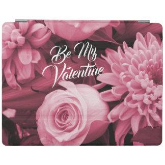 Capa Smart Para iPad Rosas românticos do rosa da antiguidade do dia dos