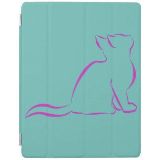 Capa Smart Para iPad Silhueta cor-de-rosa do gato