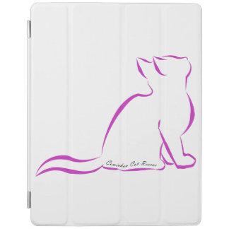 Capa Smart Para iPad Silhueta cor-de-rosa do gato, texto interno
