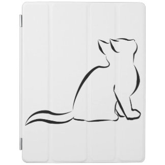 Capa Smart Para iPad Silhueta do gato preto