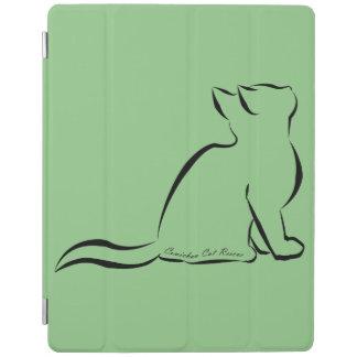 Capa Smart Para iPad Silhueta do gato preto, texto interno