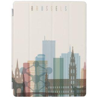 Capa Smart Para iPad Skyline da cidade de Bruxelas, Bélgica  