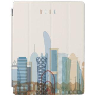 Capa Smart Para iPad Skyline da cidade de Doha, Qatar  