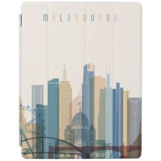 Capa Smart Para iPad Skyline da cidade de Melbourne, Austrália  