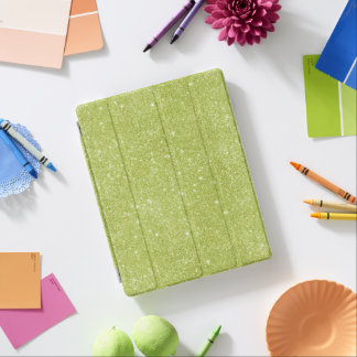 Capa Smart Para iPad Sparkles do brilho do verde limão
