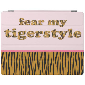 Capa Smart Para iPad Tema minhas citações cor-de-rosa Tigerprint do