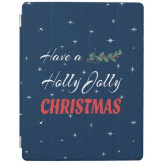 Capa Smart Para iPad Tenha um Natal alegre do azevinho