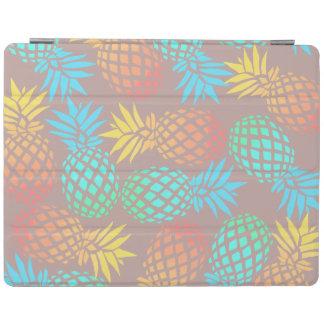 Capa Smart Para iPad teste padrão colorido tropical do abacaxi do verão