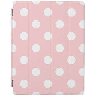 Capa Smart Para iPad Teste padrão de bolinhas cor-de-rosa e branco
