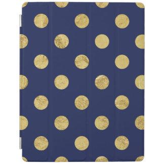 Capa Smart Para iPad Teste padrão de bolinhas elegante da folha de ouro