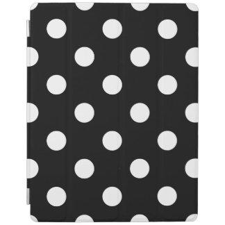 Capa Smart Para iPad Teste padrão de bolinhas preto e branco