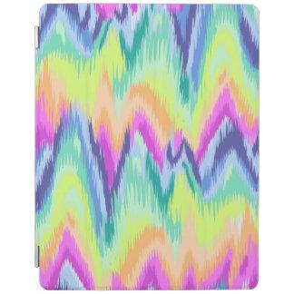 Capa Smart Para iPad Teste padrão de néon abstrato colorido chique de
