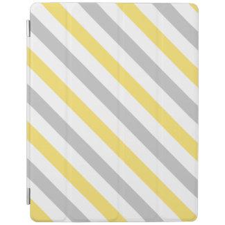Capa Smart Para iPad Teste padrão diagonal cinzento e amarelo das