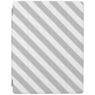 Capa Smart Para iPad Teste padrão diagonal do cinza e o branco das