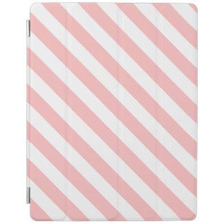 Capa Smart Para iPad Teste padrão diagonal do rosa e o branco das