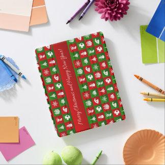 Capa Smart Para iPad Teste padrão do ano novo. Vermelho, verde, branco.