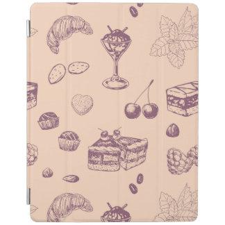 Capa Smart Para iPad Teste padrão doce com várias sobremesas