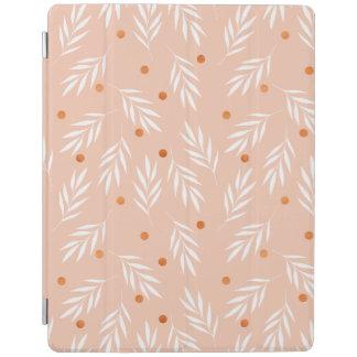 Capa Smart Para iPad Teste padrão floral das folhas do rosa moderno do