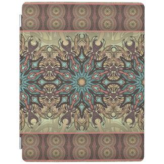 Capa Smart Para iPad Teste padrão floral étnico abstrato colorido da